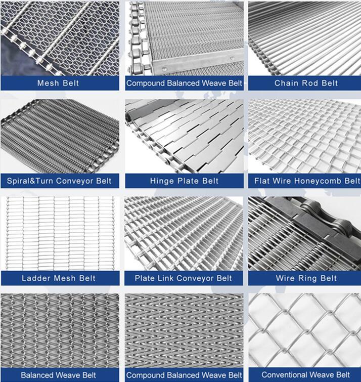 Stainless steel roller chain conveyor mesh belts